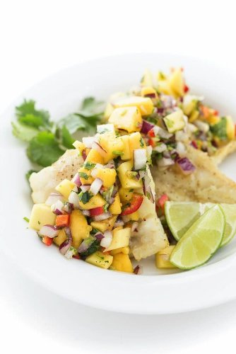 Broiled Whitefish with Mango Salsa