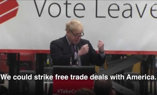 Video of all the times Boris Johnson promised a trade deal with the US goes viral
