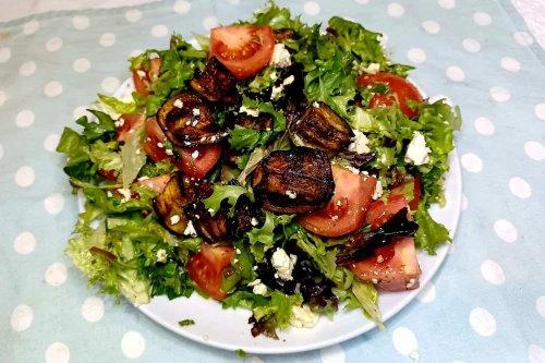 Roasted Eggplant (Aubergine) Salad with Feta
