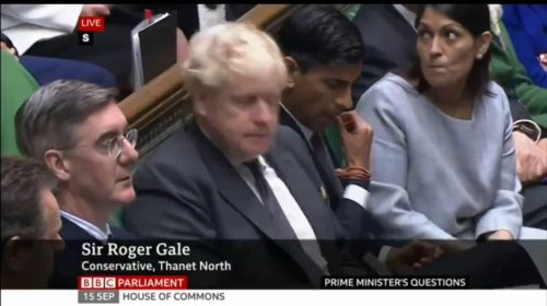 Reaction of Tory front bench goes viral after MP warns of Brexit waste