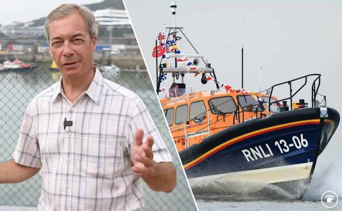Farage comments prompt a surge in donations to the RNLI