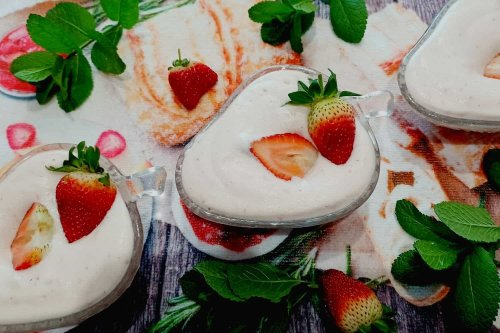 No Added Sugar Strawberry Mousse