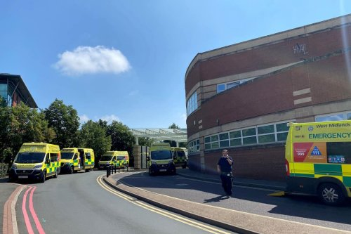 Alarming pics show dozens of ambulances queuing and patients forced to wait outside packed A&E