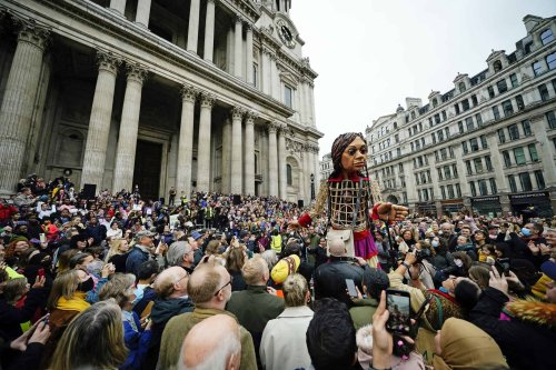 St Paul's dean welcomes Syrian refugee puppet - saying London can be a 'refuge for all who need it'