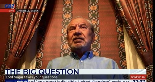 Alan Sugar slams Dan Wootton's 'f***ing stupid question' as he appears on GB News