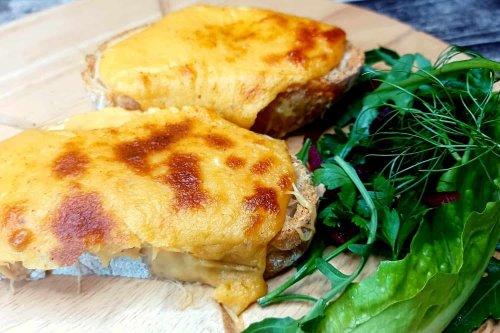 Welsh Rarebit a delightful breakfast sandwich