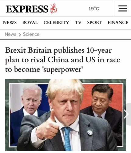 'Effortlessly rivalling North Korea': Daily Express publishes Britain's 10-year plan to become 'superpower'