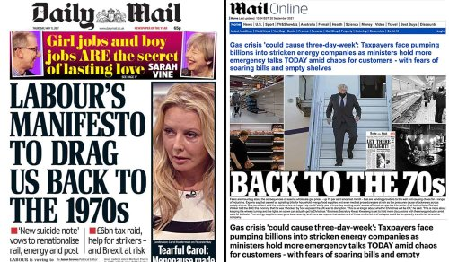 Daily Mail reminded of 2017 front page warning people off Labour