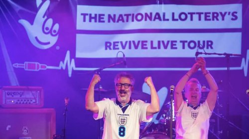 Joy as Baddiel and Skinner sing 'It's coming home' before Euro 2020 final