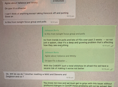 Cummings publishes WhatsApps from Boris as PM heads to Commons for PMQs