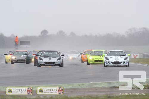 Denman Masters a Snowy Round 1 and Rookie Taylor Snatches First Podium Result in Lotus Cup UK/Elise Trophy