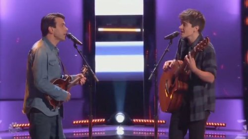 """Trans Contestant Wows """"Voice"""" Judge Ariana Grande With Father-Son Duet"""