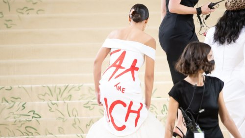 A Trump-Aligned Group Is Trying to Take AOC Down for Her Met Gala Look