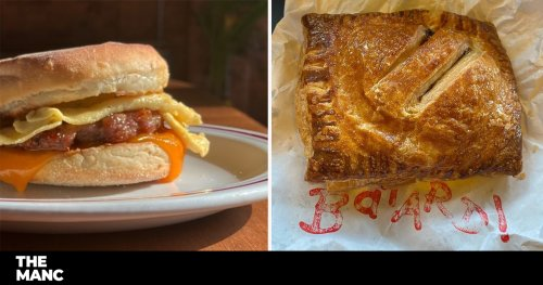 NEW MANC EATS featuring proper steak bakes and a Mancunian McMuffin