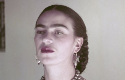 Painful Frida Kahlo Painting Appropriated and Edited to Smile for Greeting Card