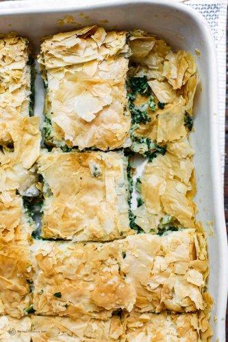 Spanakopita Recipe (Greek Spinach Pie Tutorial)   The Mediterranean Dish