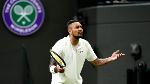 'This isn't grass': Kyrgios vents while others slip on Wimbledon grass