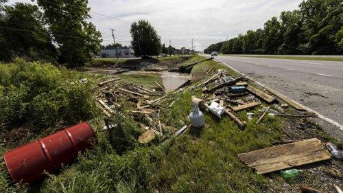 Nine children, one adult killed in 18-car pileup as tropical depression wreaks havoc