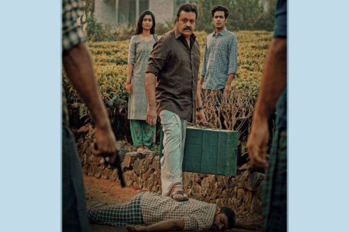 Team 'Kaaval' releases first-look poster of Suresh Gopi on Vishu