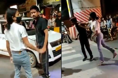 Lucknow woman thrashes cab driver, where are the feminists?