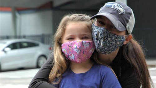 Gig Harbor kindergartners are ready for the school year, with masks — and unicorns