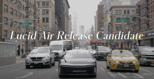 Watch the Lucid Air Glide Through the Streets of Manhattan