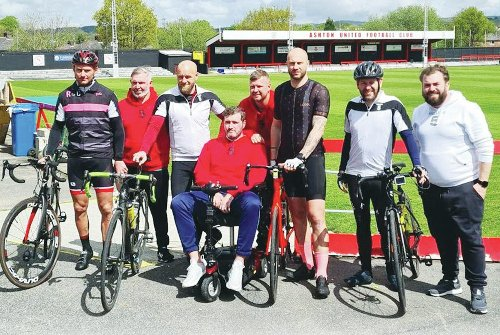 Charity bike ride raises funds for one of non-league's most treasured characters