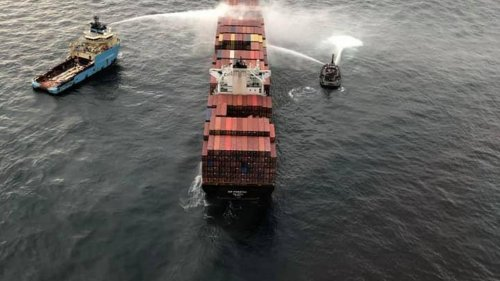 Crews continue to fight fire on cargo ship near Vancouver Island, Coast Guard says