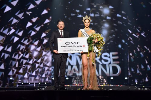 Honda Congratulates Anchilee the Winner of Miss Universe Thailand 2021, who will receive an all-new Honda Civic Generation 11 RS Variant Before Competing for the Third Miss Universe Crown for Thailand