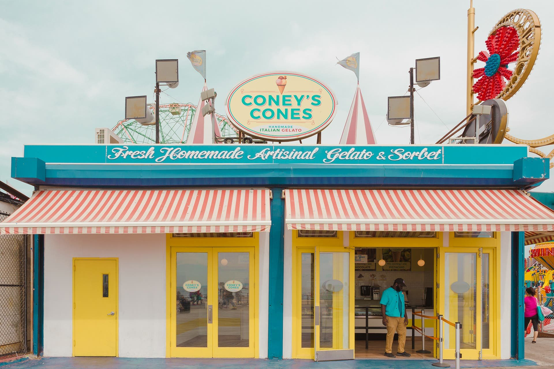 Coney Island as a Pastel Wonderland by Salvador Cueva