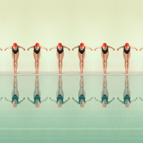 Maria Svarbova's Poolside Origins Explores Symmetry and Duplicity