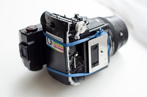 Brock Saddler: How to Hack a Bronica ETRS to Shoot Fujifilm Instax Mini