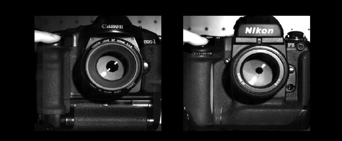 Video: Canon EOS-1V HS and Nikon F5 Shutters Slowed Down to 5000 FPS