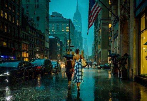 Michele Palazzo: Photos of Rainy NYC Evoke Painterly Beauty