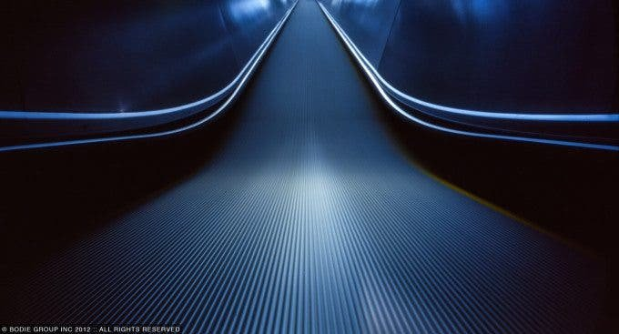 This Pinhole Image Puts a Different Perspective on the Escalator