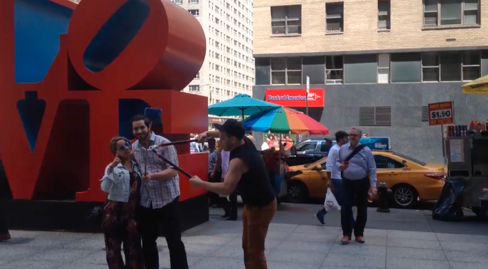 Unmasked Vigilante Patrols NYC Snipping Tourists' Selfie Sticks