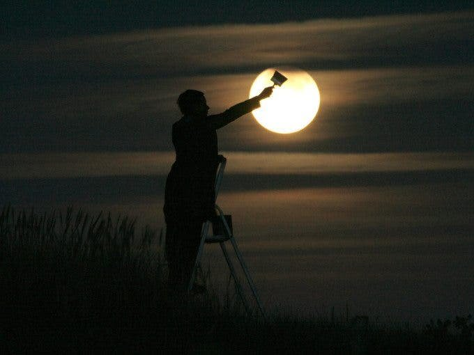 """""""Moon Games"""" is a Creative Series of Pictures Showing People Interacting with the Moon - The Phoblographer"""