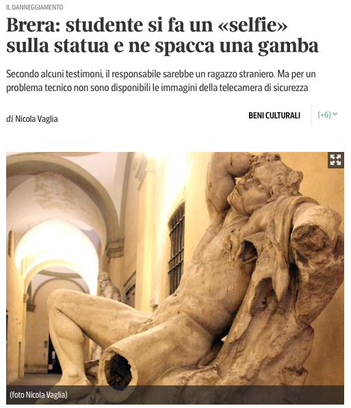 Genius Student Damages a Sculpture for the Sake of a Selfie - The Phoblographer
