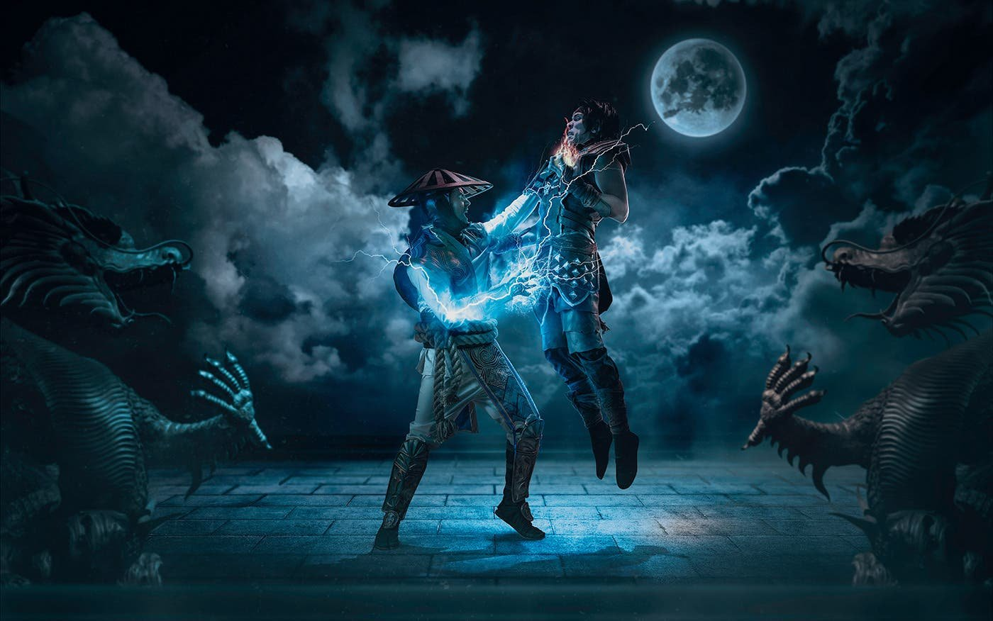 Mortal Kombat Cosplay Photos Show Creative Process from Photography to Digital Art