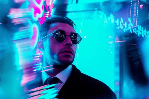Steve Roe Turns Streets Into Trippy Neon Wonderlands Using Fractal Prisms