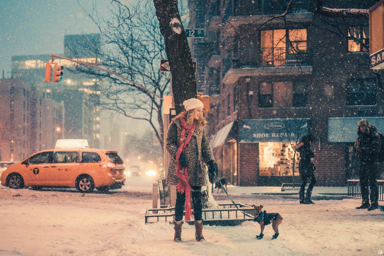"""Franck Bohbot Captures a Dreamy New York City in """"Velvet Snow"""""""