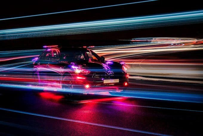 Patrick Rochon's Inspired Light Used 2,520 LEDs and Cars