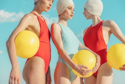 "Eszter Sarah Explores a Retro Summer Mood in ""Swimmers"""