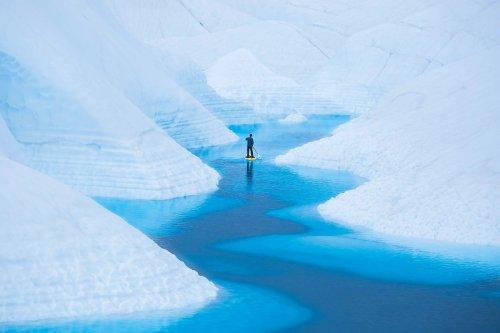 """Paddling Tranquility"" Showcases the Epic Glacier Landscapes of Alaska"