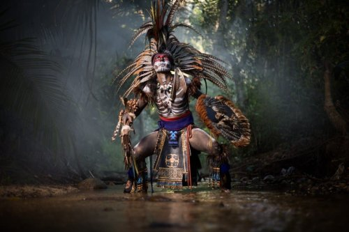 JP Stones Recreates Indigenous Aztec Myths with Cinematic Portraits