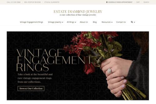 EstateDiamondJewelry.com Review: Best for Locating Rare Vintage Rings | The Plunge