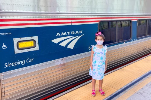 My daughter and I took a train while my wife flew from Florida to DC