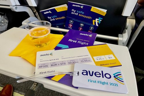 Fanfare galore: What it was like flying on Avelo Airlines' inaugural flight