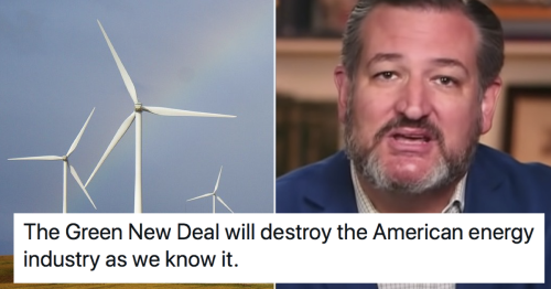 Ted Cruz had a dire warning about green energy and was owned into next week
