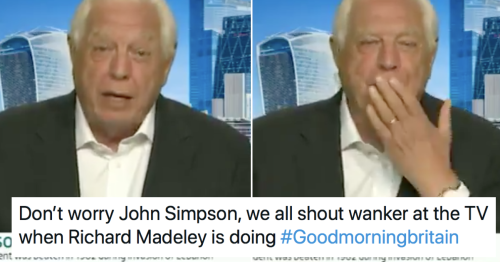 John Simpson shouting 'wanker' on Good Morning Britain is just the lift we needed today